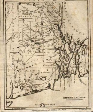 Rhode Island Map 19th Century