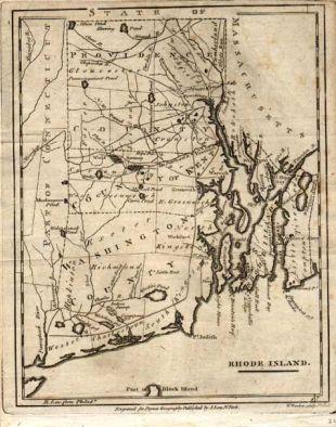 Rhode Island Map 19th Century