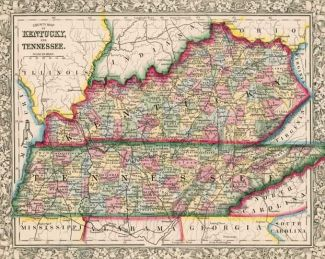 Kentucky Tennessee Map