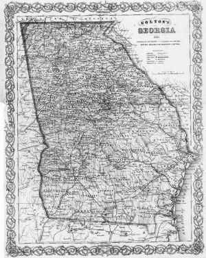 Georgia Map Civil War Era