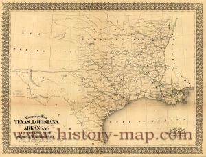 Texas Civil War Map