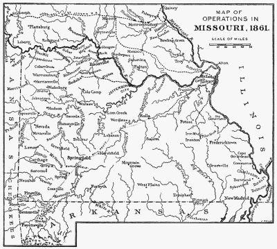 Missouri Map 1861