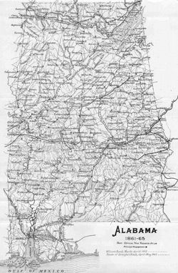 Alabama Map 1860s