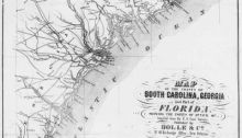 South Carolina, Georgia, Florida Coast Map