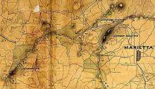 Civil War era map of Marietta, Georgia