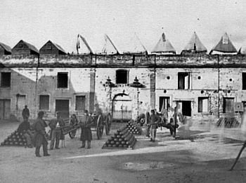 Fort Marion, St. Augustine, occupied by Union troops. Photo by Samual A. Cooley