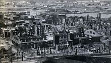 Gutted Buildings After the Troy, New York Fire of May 10, 1862