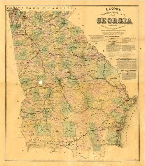 Baptists And The American Civil War January Baptists - Georgia map 1865