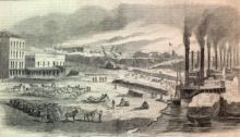 Union Forces Loading Sugar and Cotton for Shipping Northward, by Alex Simplot