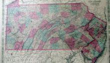 Pennsylvania Map  During the Civil War