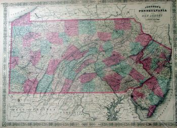 Pennsylvania Map During the Civil War