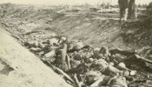 "Confederate Dead in ""Bloody Lane"" after Battle of Antietam"