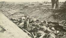 "Confederate Dead in ""Bloody Lane"" after Battle of Antietam"