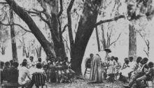 Teaching former slave children on Port Royal Island