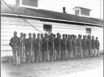 The soldiers of Company E, 4th U.S. Colored Infantry