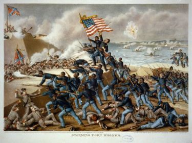 54th Massachusetts African American Regiment Storming Fort Wagner