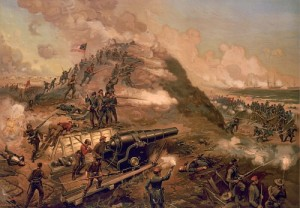 Capture of Fort Fisher/ J.O. Davidson