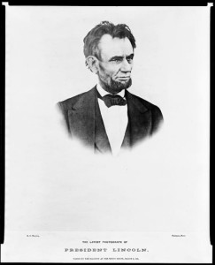 The last photograph of Abraham Lincoln