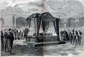 East Room Funeral Scene Harper's Weekly, May 6, 1865