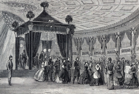 Lincoln lying in state, Springfield, Illinois, May 4, 1865