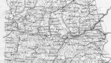 Alabama Map 1860s